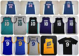 Wholesale Men Shirts Navy - Throwback Arizona Wildcats College Basketball Jersey 10 Mike Bibby 24 Andre Iguodala Navy Blue Shirts University Stitched Jerseys S-XXL