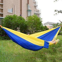 Wholesale Hammock Swing Nylon - Outdoor Camping Hammocks Hanging Sleeping Bed Parachute Nylon Fabric Double Person Portable Hammock Swing Bed