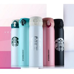 Starbucks Thermos Cup Vacuum Flaconi Thermos In acciaio inox Isolamento Thermos Tazza tazza di caffè Travel Drink Bottle 450ml 6 colori supplier starbucks mugs coffee cup da tazza di caffè di tazza di starbucks fornitori