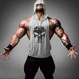 Wholesale t shirt muscle print - Hot sale 2017 GYM Sports T-shirts Men Tank Tops Bodybuilding Cotton Vest O-Neck Golds Tank Top Men Sleeveless Shirts Muscle Men