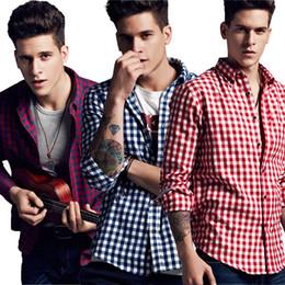 Wholesale Mens Mandarin Shirts - Fashion Men's Flannel Basic Shirt Men Dress Shirt Men's Long Sleeve Plaid Shirts Casual Fashion Style Mens Shirts Clothing