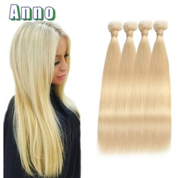 Wholesale Brazilian 4pcs Bundle Deals - 613 Blonde Virgin Hair Grade 7a Russian Blonde Virgin Hair Bundle Deals Blonde Brazilian Straight Hair Weave 4pcs 613 Extensions
