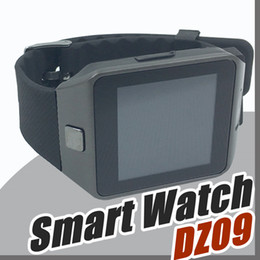 Wholesale Age B - 20X Smartwatch 2017 Latest DZ09 Bluetooth Smart Watch Support SIM Card For Apple Samsung IOS Android Cell phone 1.56 inch Free DHL B-BS