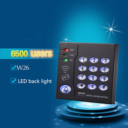 Wholesale Keypad Reader - Wholesale- Elegant design access controller RFID reader keypad with three light can connect with alarm