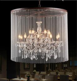 Wholesale Loft Large - Loft 15 Lights Large Chandelier Light Rain Drop Pendant Lamp K9 Crystal Light for Home Decoration