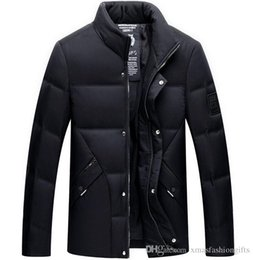 Wholesale Coats For Cheap - Buy Winter Down Jacket Brand Design Men Warm Cold Hoody Jackets for Man Fashion Anorak Plus Size Coats Cheap Sale