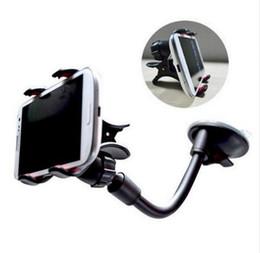 Vetro i6 online-Supporto per telefono cellulare per I6 Succhiare supporto Supporto per auto appiccicoso per Iphone 6 5s Supporto di vetro Supporto rotante per Samsung GPS