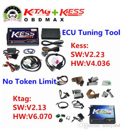 Wholesale Vw Ecu Tuning - Full Set No Tokens Limited V4.036 KESS V2 OBD2 ECU Chip Tuning Kit V2.30 V6.070 K-tag K Tag ECU Programming Tool V2.13 KESS KTAG