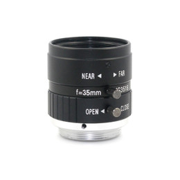 Wholesale Manual Focus Cctv Lens - F1.8 5MP 35mm Manual Zoom Focus Iris C Mount Lens CCTV Lens for Microscopes CCTV Camera