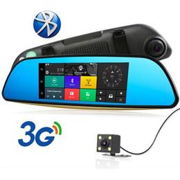Canada 7 pouces 3G voiture GPS DVR miroir caméras double objectif enregistreur vidéo navigation GPS automatique rétroviseur Offre