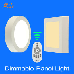 Wholesale Remote Colors - 6W-24W LED panel light, Single color non dimming, and remote changing colors and dimming for choosing, surface mounted indoor lamp