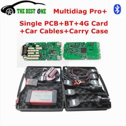 Wholesale Tool Car Diag - 2017 Best Single PCB Multi-diag Pro+ 2014.R2 R3 Multidiag Pro Bluetooth + 4GB TF Card+Car Cables For Car Truck Diagnostic Tool