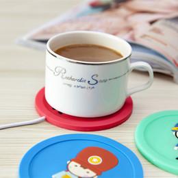 Wholesale Usb Warming Pad - USB Cup Pad Mat Warmer Silicone Heat Heater creative coaster cup Pad for keep Milk Tea Coffee warming 5V 3.75W