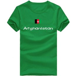 Wholesale Nations Red - Afghanistan T shirt Fencing sport short sleeve Cheering people tees Nation flag clothing Unisex cotton Tshirt