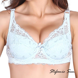 2019 punaises en gros Gros-Sexy Gather Push Up Soutien-gorge Underwire 5 / 8Cup Lace Brassiere Underwear 32/34/36/38/40