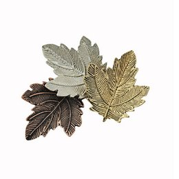 Wholesale Wholesale Dance Brooches - Wholesale- metal Mujer Vintage Pin Maple Leaf Brooch Gold alloy leaves Brooches Pins Exquisite Collar For Women Dance Party Accessories
