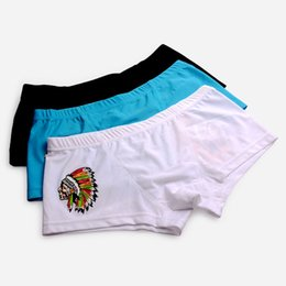 Wholesale Hot Underpants - Hot-selling 2017 New Arrived Style Men's trunks Personality pattern on the back Sexy Low waist tight Boxers Slim Breathable Underpants