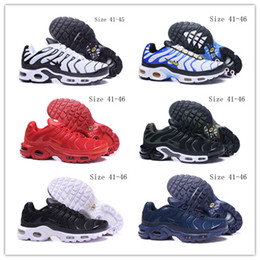 Wholesale Tassel Comfortable Flats - Cheap TN Trainers High Quality Men's Sports Sneakers Comfortable Air Cushion Running Shoes Outdoor Walking Shoe 41-46