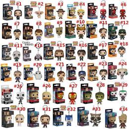 Wholesale Action Figure Design - 34 Designs Funko POP Action Figurines Toys Keychain Avengers Harry Potter Wonder Woman PVC Cartoon Action Figures Keychain Kids Gifts LA527
