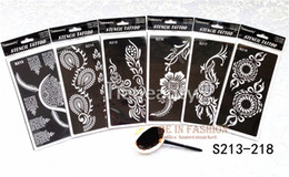 Wholesale wholesale airbrush tattoo kits - Wholesale-6pcs lot Popular lots of patterns Temporary Tatto stencils for painting Template Henna tattoo hands feet Painting Kit sexy girl