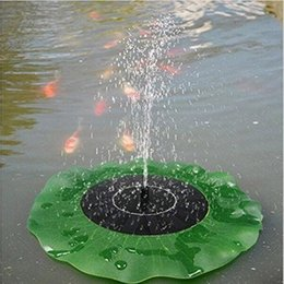 Wholesale Solar Powered Plants - 7V 1.4W Lotus Leaf Floating Water Pump Solar Panel Garden Plants Watering Power Fountain Pool Fish pond fountain decoration by Birdbath