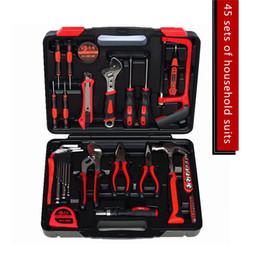 Wholesale Hand Crimp Tool - Hi-tech 45 Pcs Homeowner's Tool Kit General Household Hand Tools Set Home hardware screwdriver multi tools