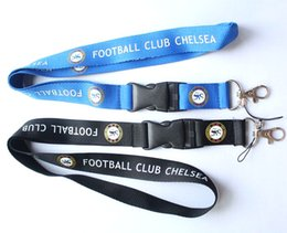 Wholesale Football Party Favors - Wholesale 30 pcs Popular Removable football team Mobile phone Lanyard Key Chains Pendant Party Gift Favors Q-067