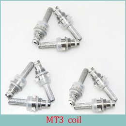 Wholesale Mt3 Cartomizer Electronic Cigarette - MT3 Detachable MT3 Clearomizer coil Head core Ego Electronic Cigarette Replaceable Cartomizer 2.2ohmVapor Core Evod E cig