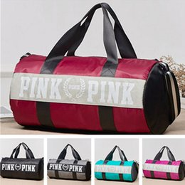 Wholesale Universal Phone Large Cases - VS pink Handbag Duffle Bags PINK letter Sports Beach Travel Hiking Shoulder Bag Waterproof Large Capacity Bag multifunction bags phone pouch