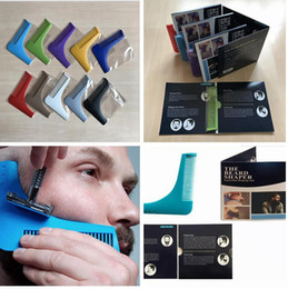 Wholesale Tools For Cutting Hair - 10 Color Beard Bro Beard Shaping Tool for Perfect Lines Hair Trimmer for Men Trim Template Hair Cut Gentleman Modelling Comb with retail bag