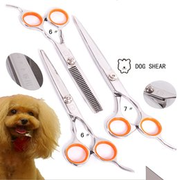 Wholesale Thin Nail Clippers - Dog Scissors Cat Curved Nails Pet Grooming Supplies Thinning Hair Clipper Professional Dogs Shears Pet Supplies Grooming DDMX469