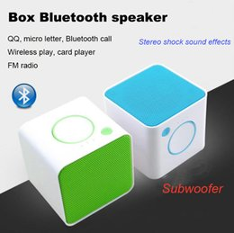 Wholesale Small Bluetooth Wireless Speakers - 2017 New Square i Bluetooth Audio Small Box Card Bluetooth Speaker Promotional Gifts Mobile Phone Computer Small Sound Box Speakers