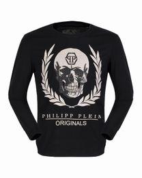Wholesale Cheap Long Tee Shirts - 2017 Autumn New Shirts Mens Long Sleeve Skulls Leaves 3D Printed Cheap Polo T shirt Slim Sweater Tee Shirt Male Casual Jacket 18101