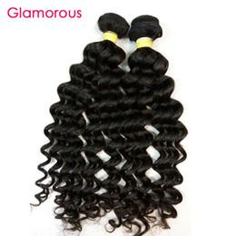 "Wholesale Malaysian Body Wave 2pcs - Glamorous Indian Human Hair Bundles 2Pcs Deep Body Wave Virgin Remy Hair Weave 8""-34"" Natural Color Peruvian Malaysian Brazilian Hair Weft"