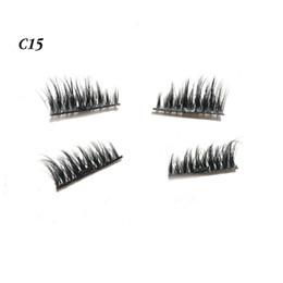 Wholesale Wholesales Hair Glue - Mink Hair Magnetic Lashes Fashion Women False Eyelashes Reusable Make Touch Software With No Glue Magnet Eyelashes
