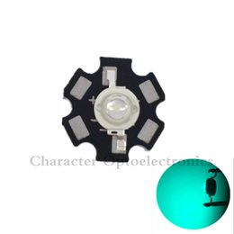 Wholesale High Power Led Pcb - Wholesale- 10pcs 3W 490nm - 495nm Cyan Color High Power LED Light Emitter Diode on 20mm Star PCB