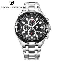 Wholesale Digital Table Design - Brand PAGANI DESIGN waterproof quartz watch three pointer waterproof light strip male table man watches relogio masculino q4201