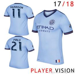 Wholesale Soccer Jerseys Pirlo - 2017 Player Vision New York City MLS Soccer Jersey 17 18 Football Shirts 17 18 NYC Home Pirlo Camiseta de futbol David Villa Maglie