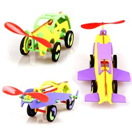 Wholesale Rubber Dynamics - toy car Rubber dynamic car EVA assembly vehicle model kids toys children puzzle toys free shipping