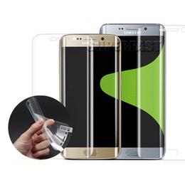 Wholesale Tpu Films - For Samsung Galaxy S8 Edge TPU Screen Protector Plastics Anti-explosion Film For Samsung S7 Edge Galaxy S6 Edge Plastic Glass No Package