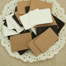 Wholesale Display Cards Paper - 2.5*3.5cm Jewelry Earring Ear Studs Hanging Holder Display Hang Paper Cardboard Cards Kraft Paper Package For Party 50Pcs lot