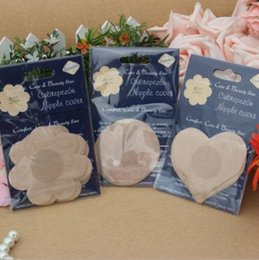 Wholesale Nipple Cover Breast - Invisible Breast Nipple Cover Sticker Body Breasts Stickers Flower Disposable Paste Anti Emptied The Chest Paste Bra Cover CCA6673 500lot