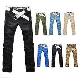 Wholesale Korean Men Style Slim Trousers - Wholesale- 2016 New Arrival Men's Stylish Korean Style Trousers Casual Straight Slim Fit Long Pants JeansDF167WD