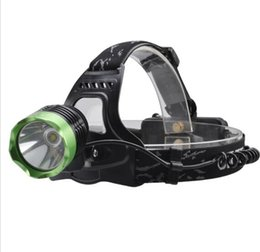 Wholesale T6 Cool White - 2017 New Headlight SF-522B Cree XM-L T61000lm 3-Mode Cool White Headlamp - Black + Green (2 x 18650 Battery)