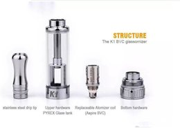 Wholesale Ego Vapor Products - Aspire K1 Clearomizer Aspire BVC 1.5ml Vapor Tank Aspire Pyrex Atomizer Ego Vaporizer E Cig China Newest Product For 2014