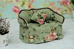 Wholesale Office Couches - Wholesale- Home Office Handmade Couch Sofa Tissue Box Cover Bag With Little Pillows Gift