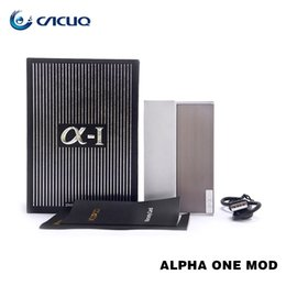 Wholesale Military Metal Box - Authentic voopoo ALPHA ONE MOD 222W TC ecig vape mods Military grade GENE.FAN chip box mods powered by dual 18650 batteries