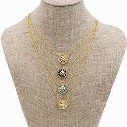 2019 brillan las cuentas oscuras al por mayor Estilo simple colgante, collar de color oro rosa collares de acero inoxidable colgantes mujeres accesorios de la joyería