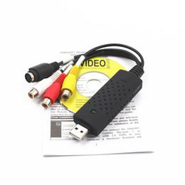 Wholesale Dvd Video Vhs - USB 2.0 Video TV DVD VHS Capture Adapter Card with Audio USB to AV Converter grabber