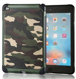 Wholesale Leather Armor China - 2 in 1 Army Camo Defender Shockproof Drop proof High Impact Armor Plastic and Leather TPU Hybrid Rugged Camouflage Cover for ipad Mini 1 2 3